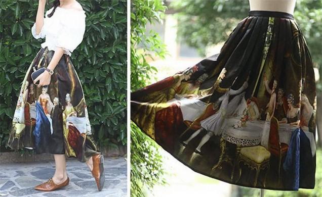 рокля с принт произведение на изкуството
