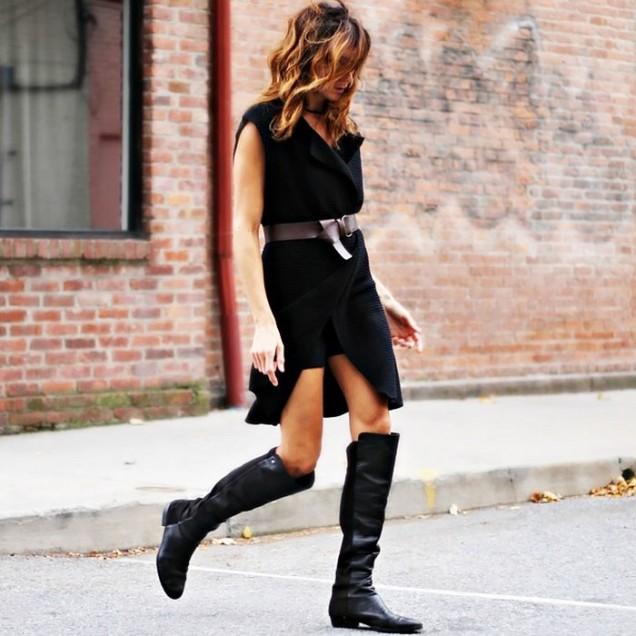 Елегантни кожени чизми зима 2016