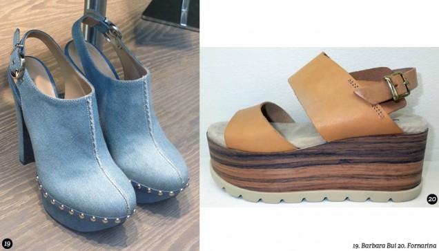 Обувки с дървена подметка лято 2017