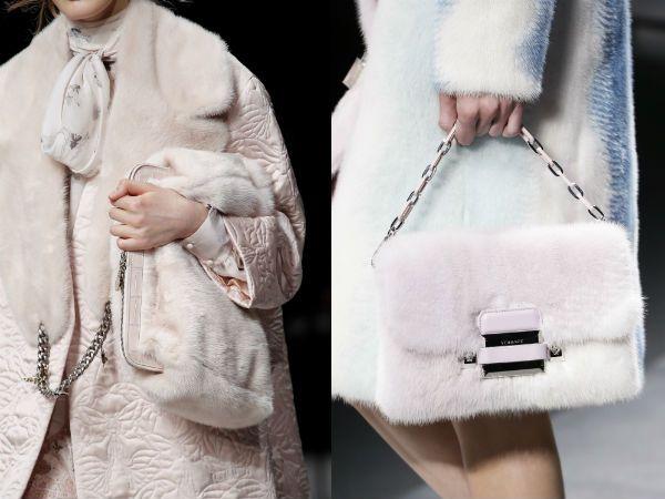 Пухкави чанти от кожа зима 2017