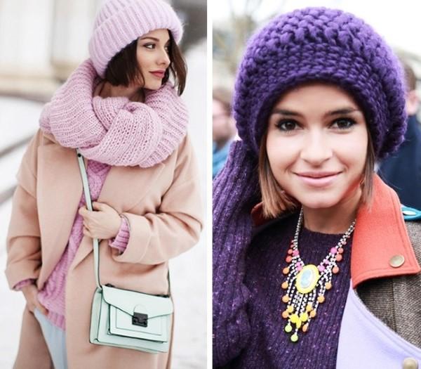 Плетена шапка зима 2016