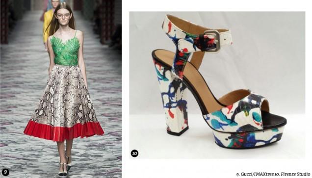 Високи цветни сандали пролет 2017