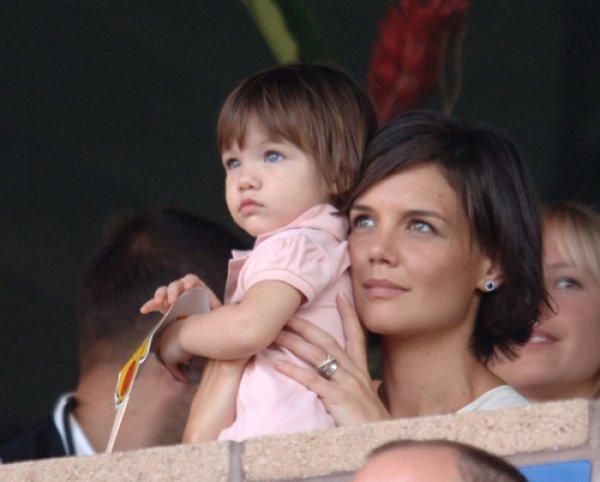 Кейти Холмс с дъщеря си Сури