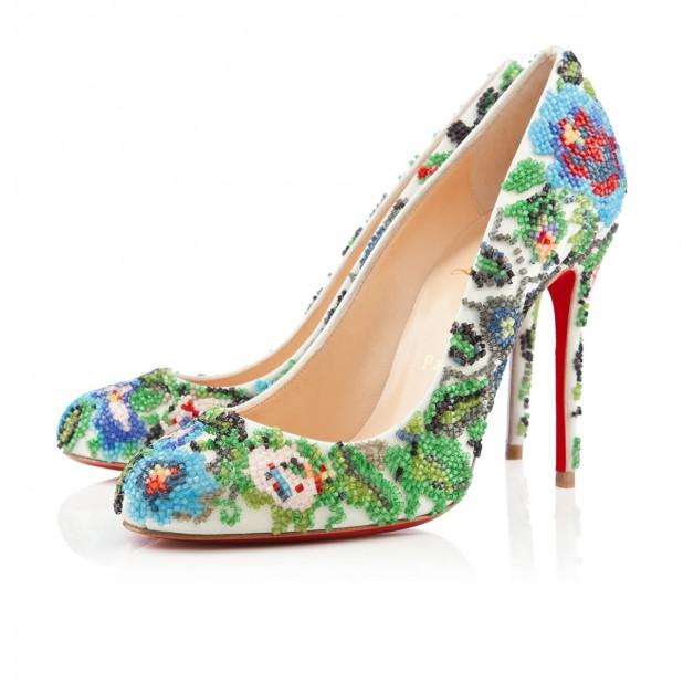 Цветни обувки на висок ток 2013