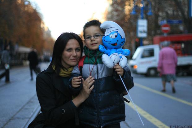 Мария Силвестър със сина си Давид
