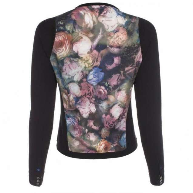 Романтична блуза с рози