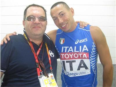 Симоне Колио с треньора си