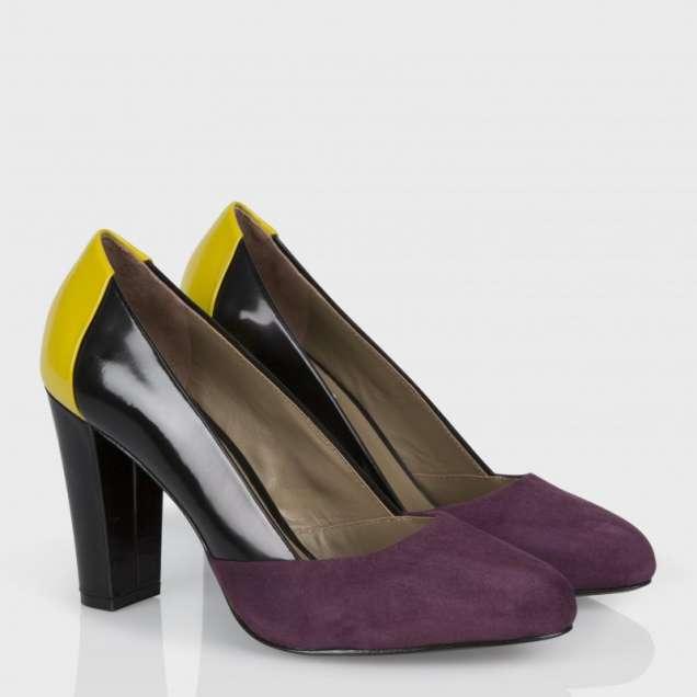 Двуцветни обувки с ток Paul Smith есен 2013
