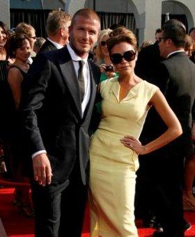 Дейвид и Виктория Бекъм на червения килим