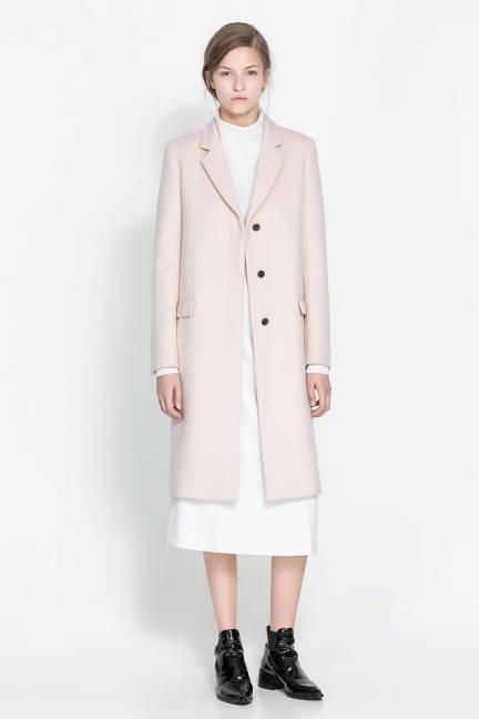 Zara дълго палто есен 2013
