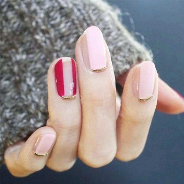 Непълни нокти с линии 2017