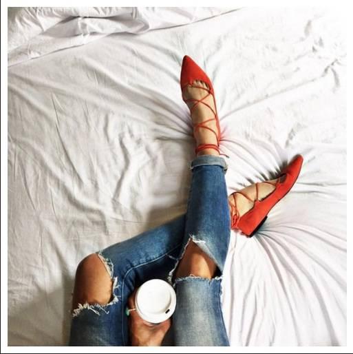 Модерни остри обувки пролет 2017