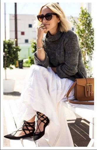 Интересен модел пантофки с връзки пролет 2017