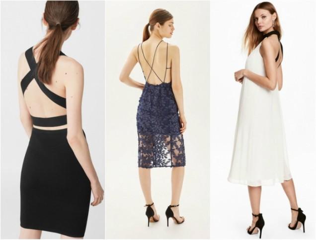 Модерни летни рокли с отворен гръб 2017