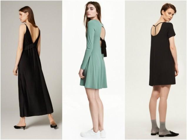 Ежедневни модели рокли с отворен гръб 2017