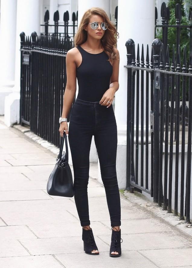 Черни велурени обувки с висок ток лято 2017