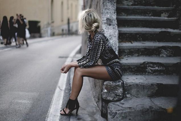 Модерни черни сандали с ресни лято 2017