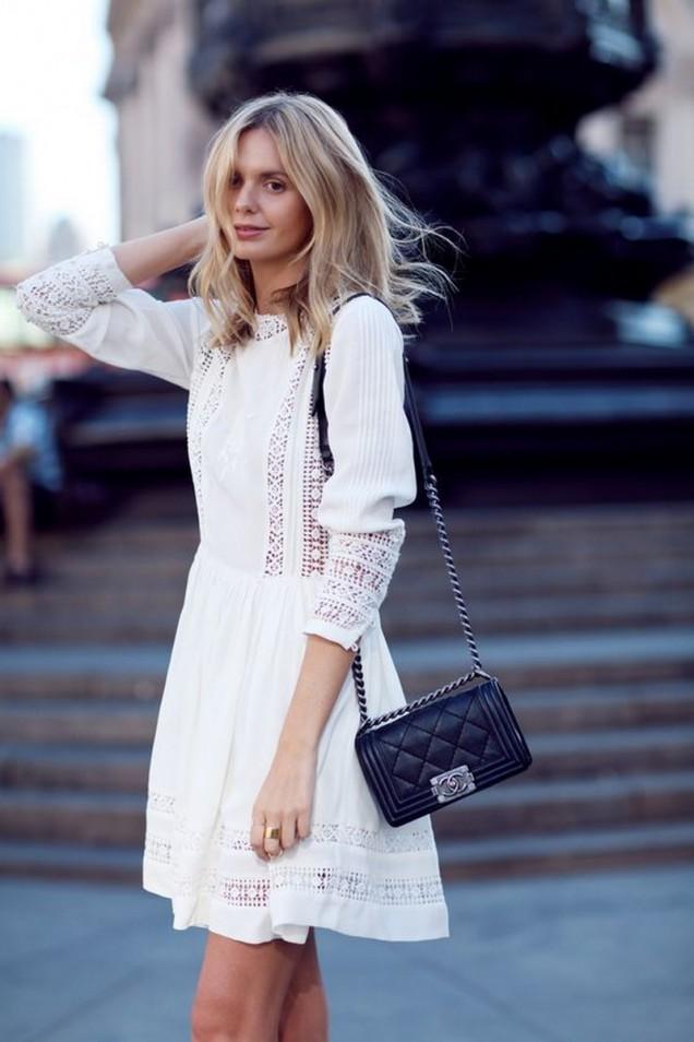 Ежедневна бяла рокля лято 2017