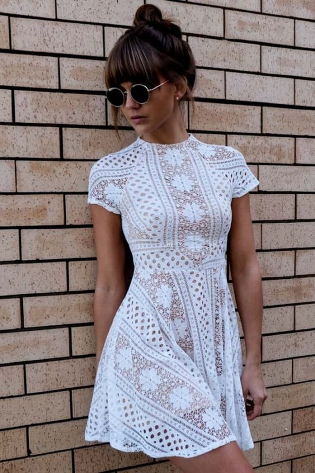 Сладка дантелена рокля лято 2017