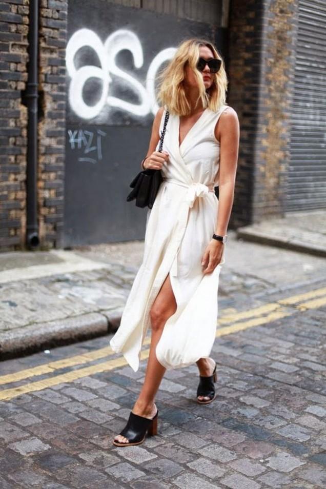 Дълга бяла рокля лято 2017