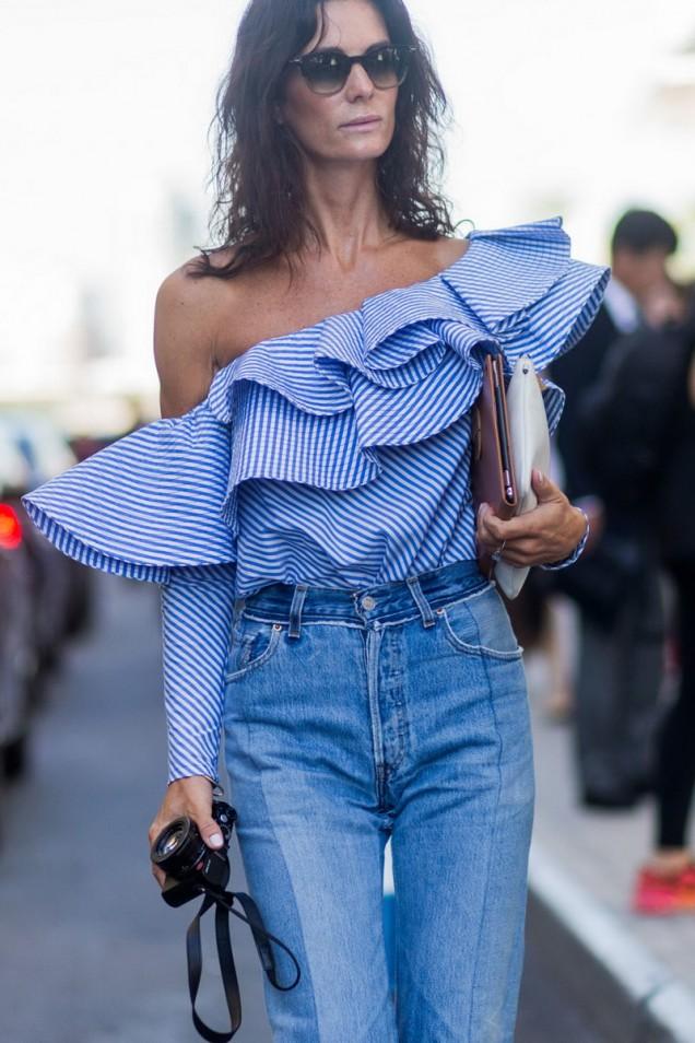 Асиметрична блуза лято 2017