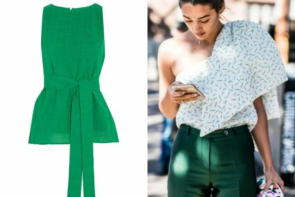 Стилен топ и панталон в зелено лято 2017