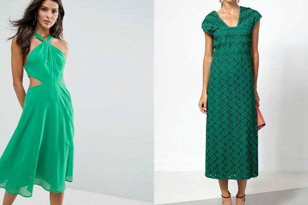 Свежи летни рокли в зелено 2017