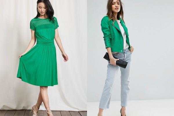 Лятна рокля и сако в зелено 2017