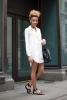 Нежна риза-рокля в бяло лято 2017