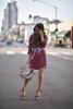 Риза-рокля бордо лято 2017