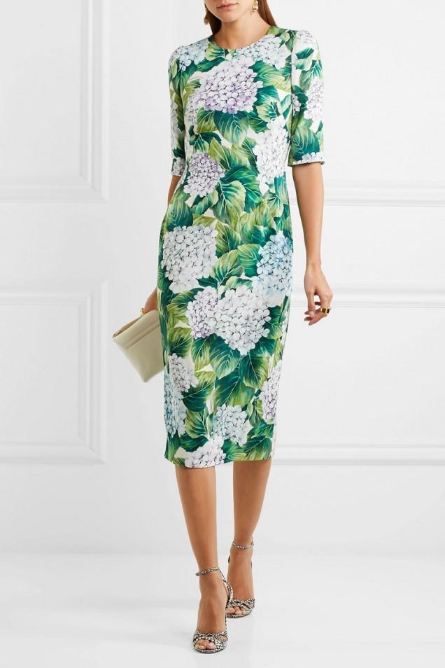 Елегантна флорална рокля лято 2017