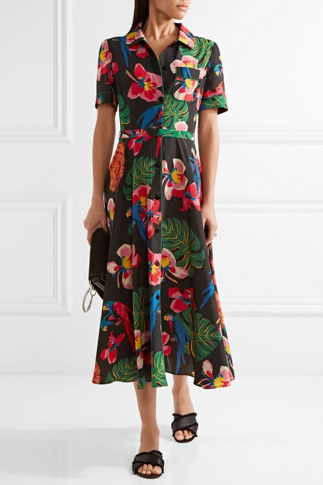 Красива флорална рокля лято 2017