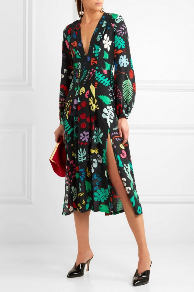 Красива лятна рокля с флорални мотиви 2017
