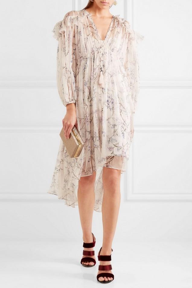 Нежна флорална рокля лято 2017