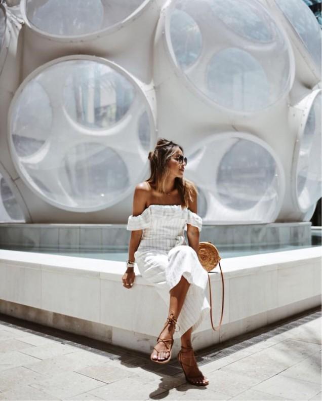 Ежедневна рокля с голи рамене лято 2017