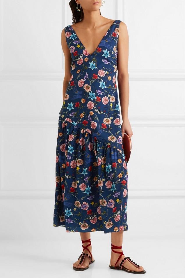 Ежедневна флорална рокля лято 2017