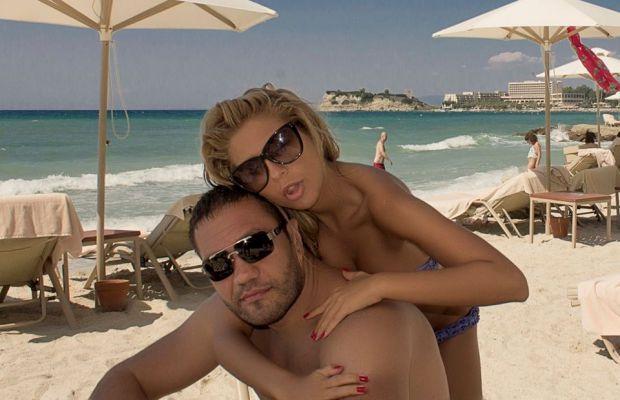 Андреа и Кубрат Пулев на море