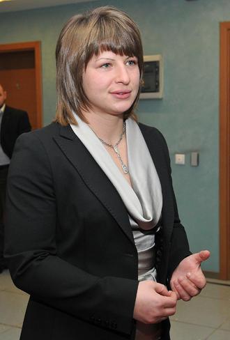 Станка Златева с официален костюм