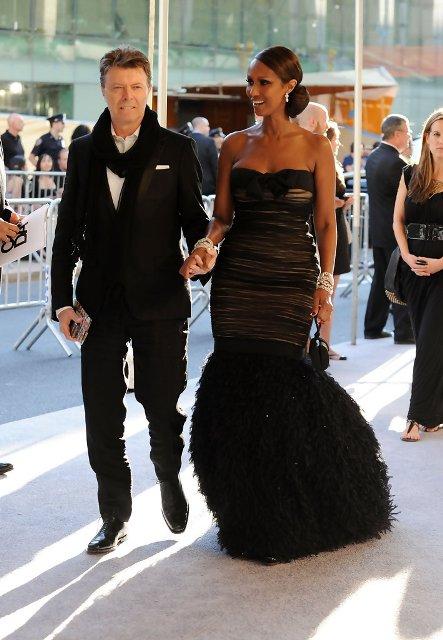 Дейвид Бауи и съпругата му - моделът Иман