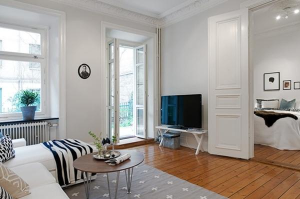 Елегантен апартамент обзаведен в бяло