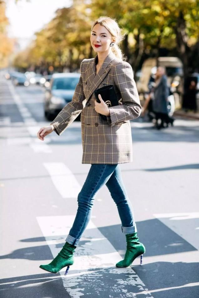 Боти тип чорап в зелено зима 2017