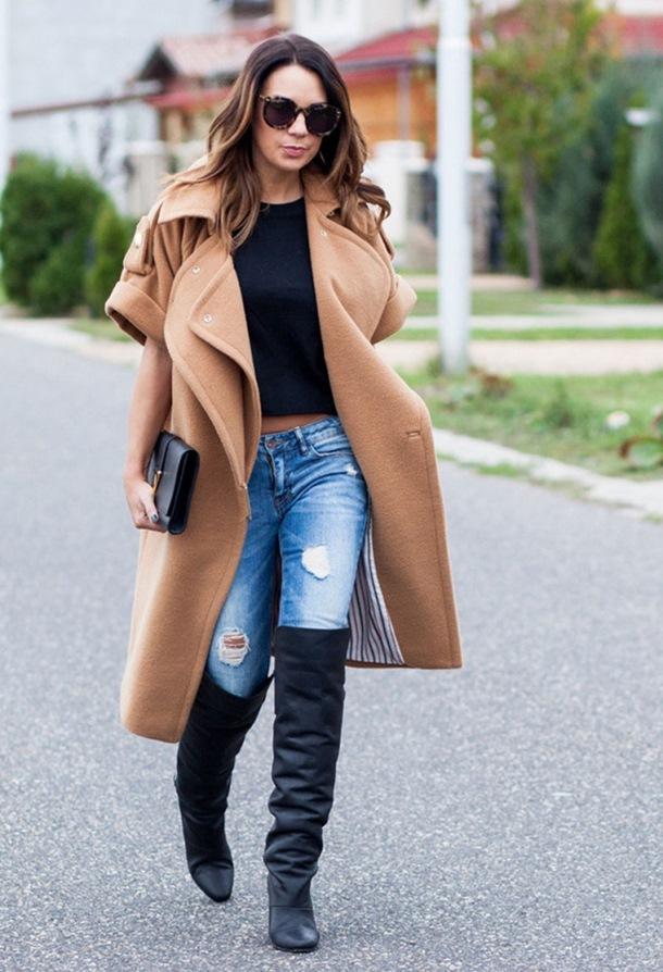Зимно палто в бежово зима 2018