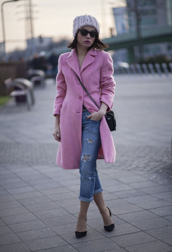 Свежо и цветно зимно палто