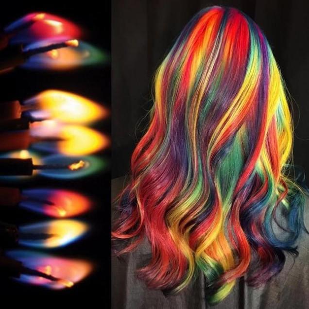 цветна прическа