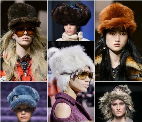 косми шапки зима 2018