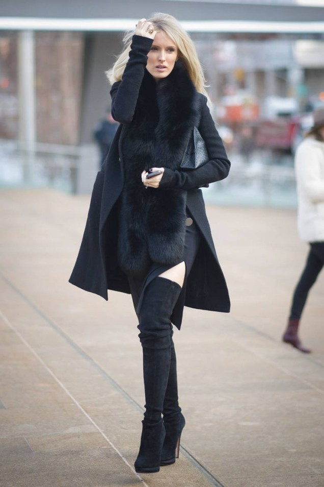 Модерно черно палто зима 2018