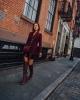 Високи ботуши в комбинация с къси панталонки есен 2017