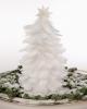 Стилна бяла коледна елха