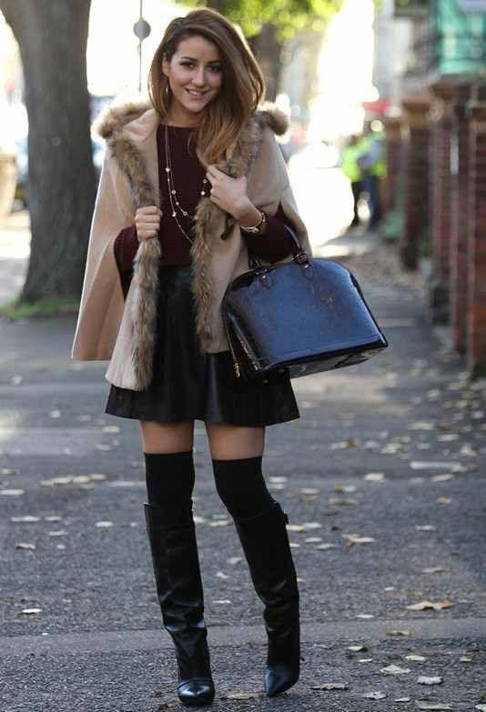 Перфектните комбинации с пола и ботуши тази зима