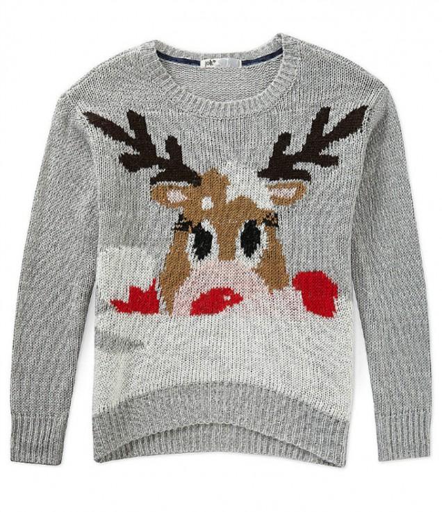 Пуловер с еленче зима 2017-2018